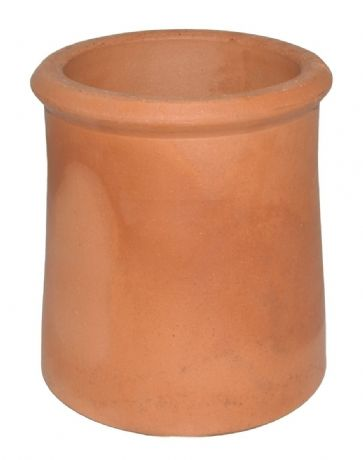 "12"" Roll Top Chimney Pot - Red Clay"